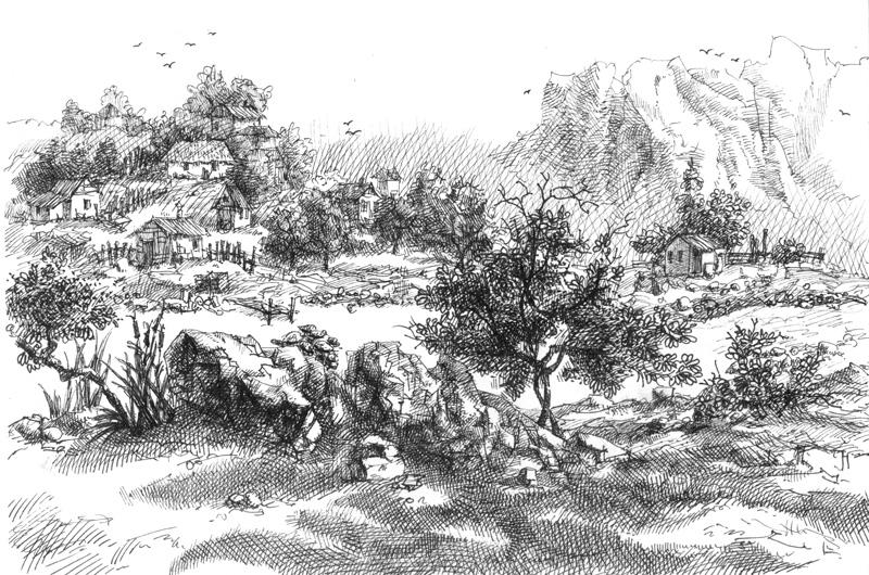 Конорейкино, А4, гелевая ручка, 2009