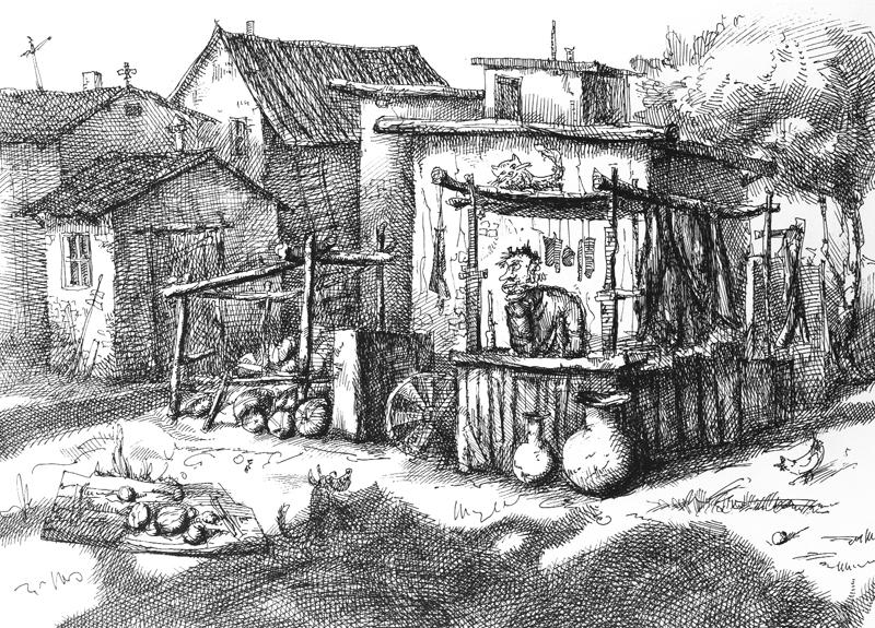 Прилавок, А4, гелевая ручка, 2008