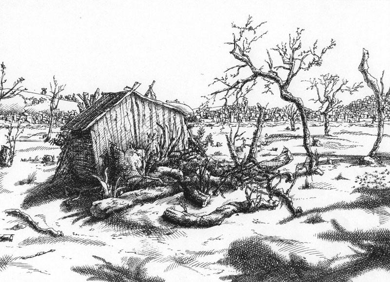 Сарай, А4, гелевая ручка, 2008