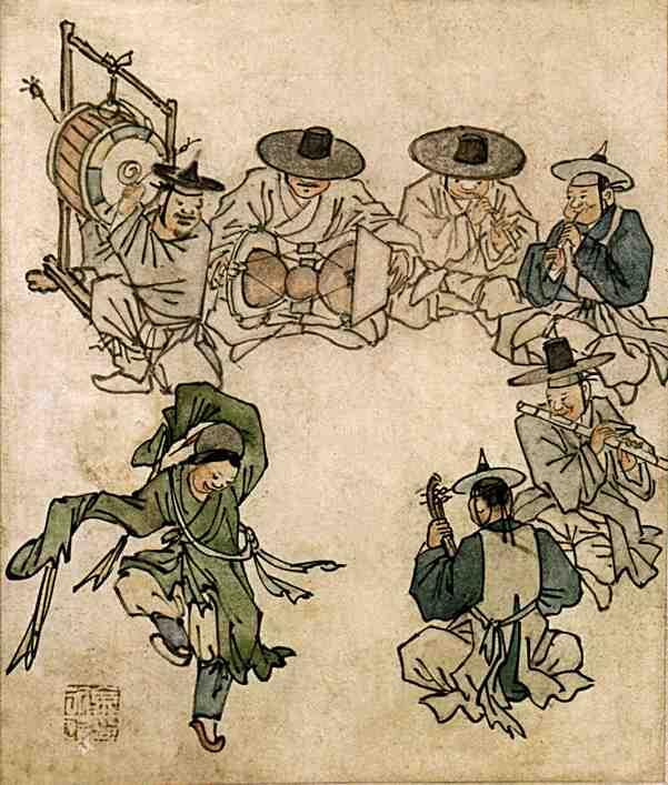 Ким Хондо, Тан Вон, Рисующий ветер, художник, корея