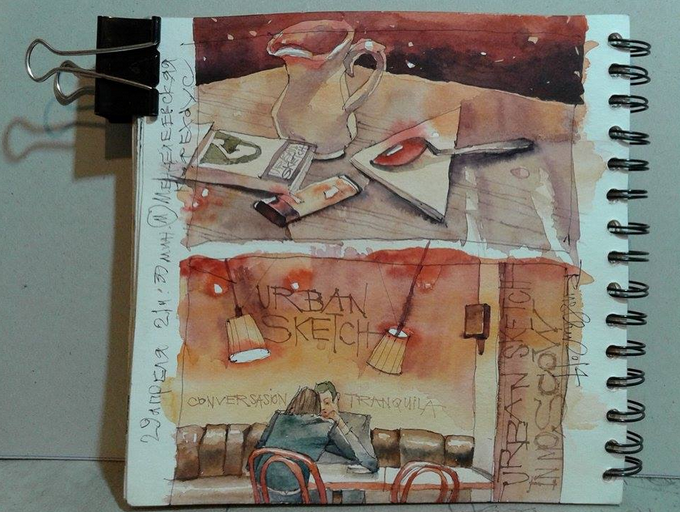 Руслан Гончар, скетч, скетчер, художник, книга, мастер-класс