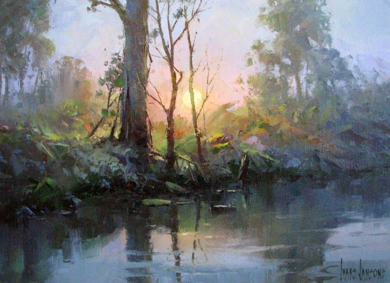 Ivars Jansons, Ивар Янсон, акварель, масло, живопись, пейзаж, watercolor, oil art