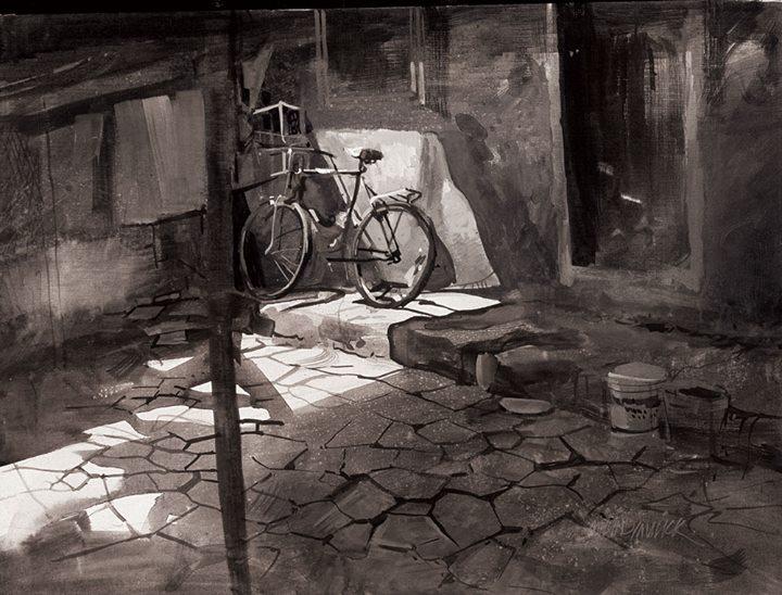 Millind Mullick, акварель, картины