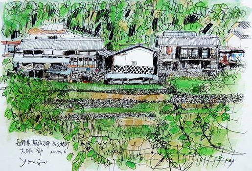 Yohji Kato, скетчи, рисунки, акварель, графика, пейзаж