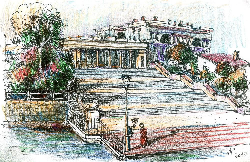 Севастополь, скетч, Сергей Меркулов, рисунок, Sketch, drawing