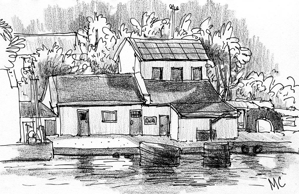 Севастополь, Скетч, рисунок, море, Меркулов Сергей, бухта