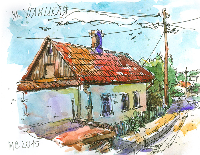 Скетч, Севастополь, рисунок,