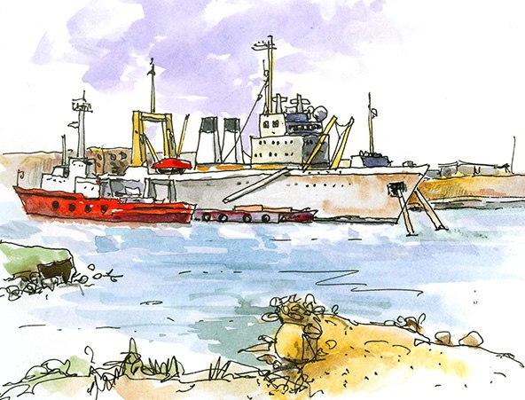 Корабли в Камышовой бухте