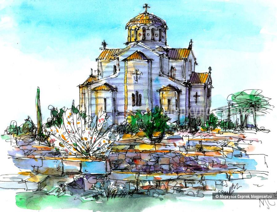 Херсонес, собор, весна, Меркулов Сергей