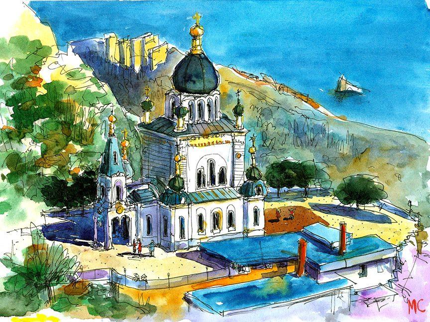акварель, графика, Сергей Меркулов, рисунок, живопись, Севастополь