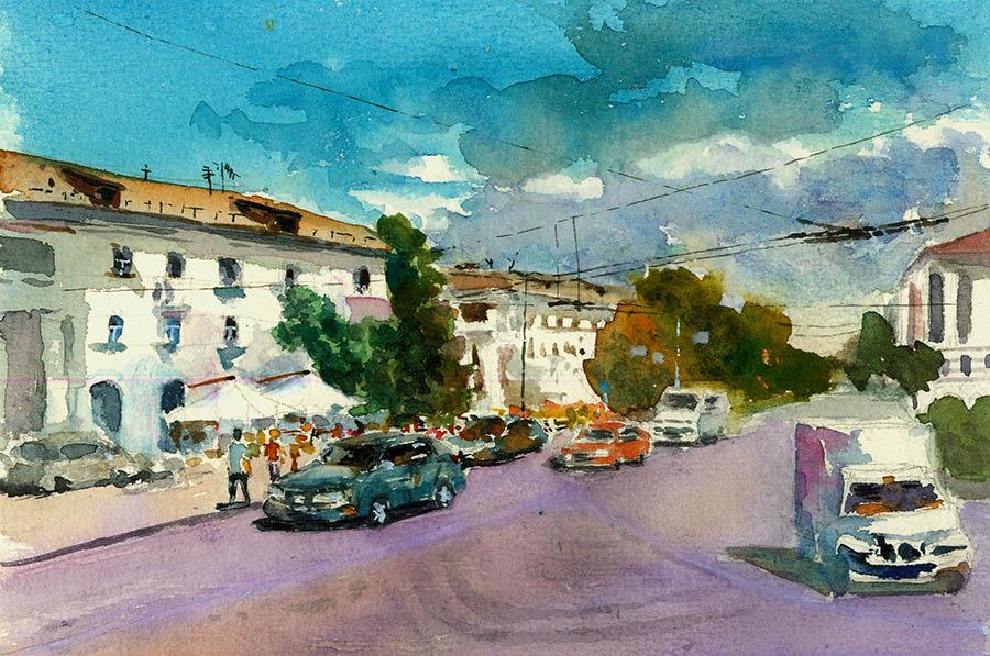 Площадь Лазарева. Севастополь