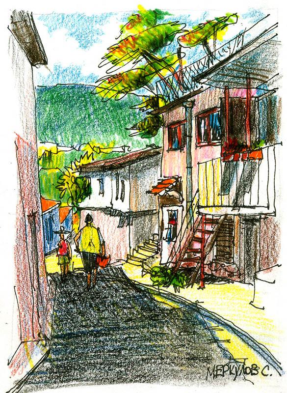 цветные карандаши, Меркулов Сергей, живопись, графика