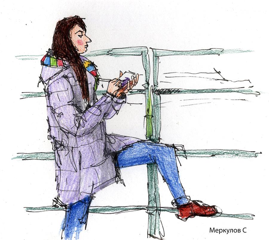 Меркулов Сергей, скетч, рисунки, цветныекарандаши