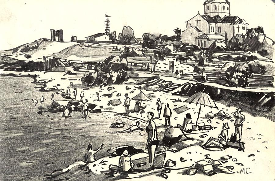 Купальщики в Херсонесе
