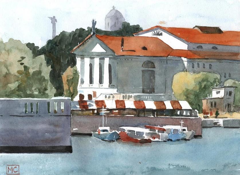 Театр Луначарского с моря
