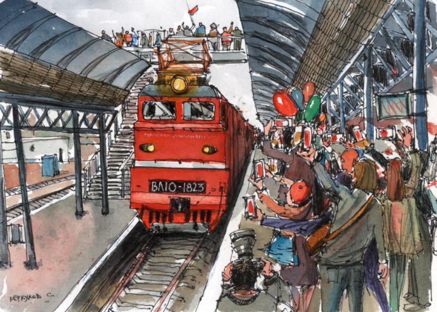 Первый поезд в Севастополь из России